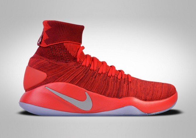 NIKE HYPERDUNK 2016 FLYKNIT TEAM RED