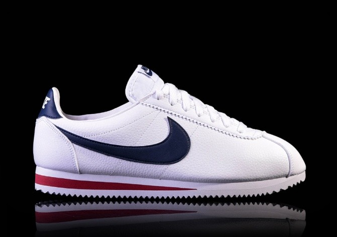 size 40 a1385 eeba5 NIKE CLASSIC CORTEZ LEATHER WHITE MIDNIGHT NAVY-GYM RED