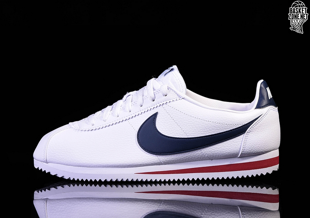 reputable site a1d60 cd90f NIKE CLASSIC CORTEZ LEATHER WHITE/MIDNIGHT NAVY-GYM RED price €87.50 ...