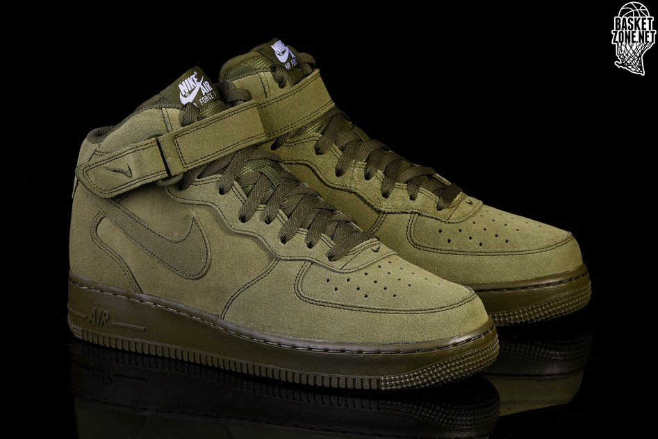 Men's Nike Air Force 1 Mid '07 Shoes [KE2422LA] Legion Green
