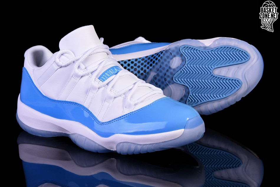 83c216fa67 NIKE AIR JORDAN 11 RETRO LOW UNC NORTH CAROLINA BLUE price €167.50 ...