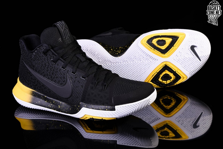 check out 18bbe 933df NIKE KYRIE 3 BLACK YELLOW