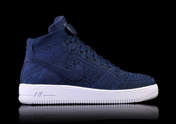 the latest e59ad a7ddf NIKE AIR FORCE 1 ULTRA FLYKNIT MID COLLEGE NAVY