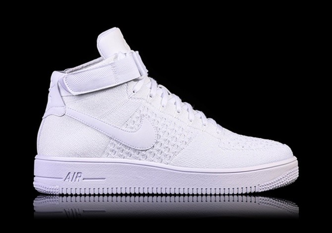 check out bebbc acd5a NIKE AIR FORCE 1 ULTRA FLYKNIT MID WHITE