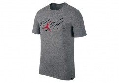 NIKE AIR JORDAN SPORTSWEAR BRAND 4 TEE CARBON HEATHER