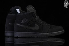 best cheap 3329a fbc74 NIKE AIR JORDAN 1 RETRO MID NUBUCK TRIPLE BLACK