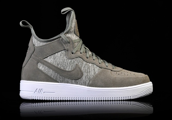 NIKE AIR FORCE 1 ULTRAFORCE MID PRM DARK STUCCO