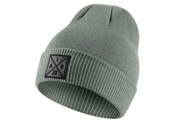 NIKE AIR JORDAN P51 KNIT BEANIE WITH EMBROIDERY DARK STUCCO