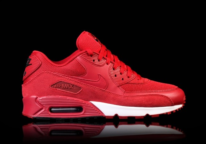 Nike Air Max 90 Essential Gym Red Silver | The Sole Supplier