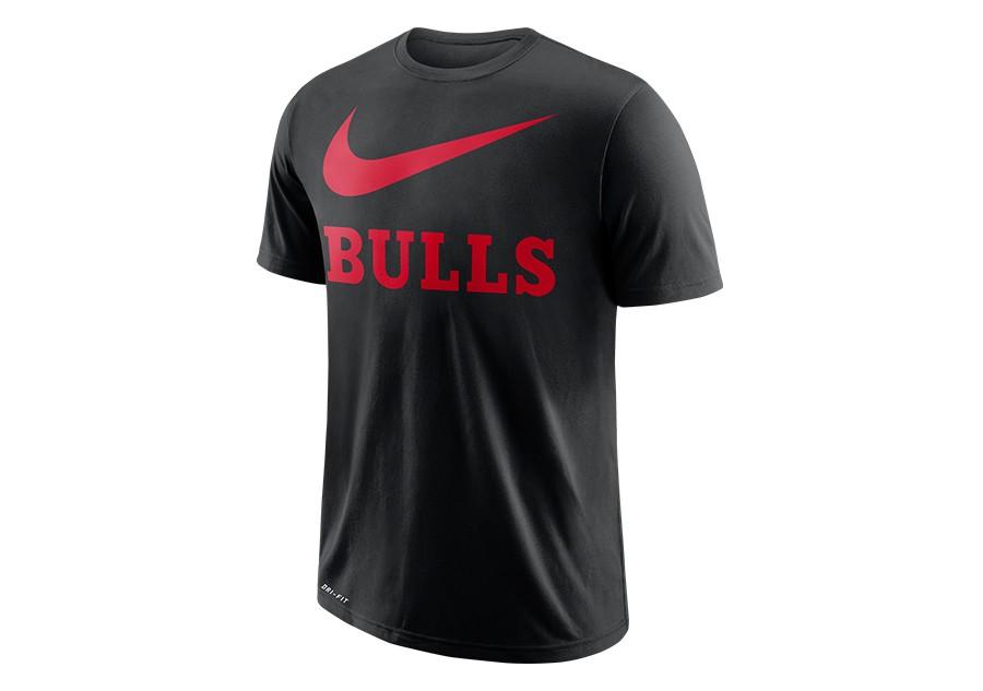 size 40 03d0f 8c8a2 NIKE NBA CHICAGO BULLS DRY TEE SWOOSH BLACK