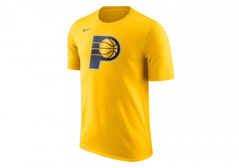 NIKE NBA INDIANA PACERS DRY LOGO TEE AMARILLO