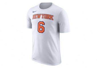 NIKE NBA NEW YORK KNICKS DRY TEE ES N&N WHITE