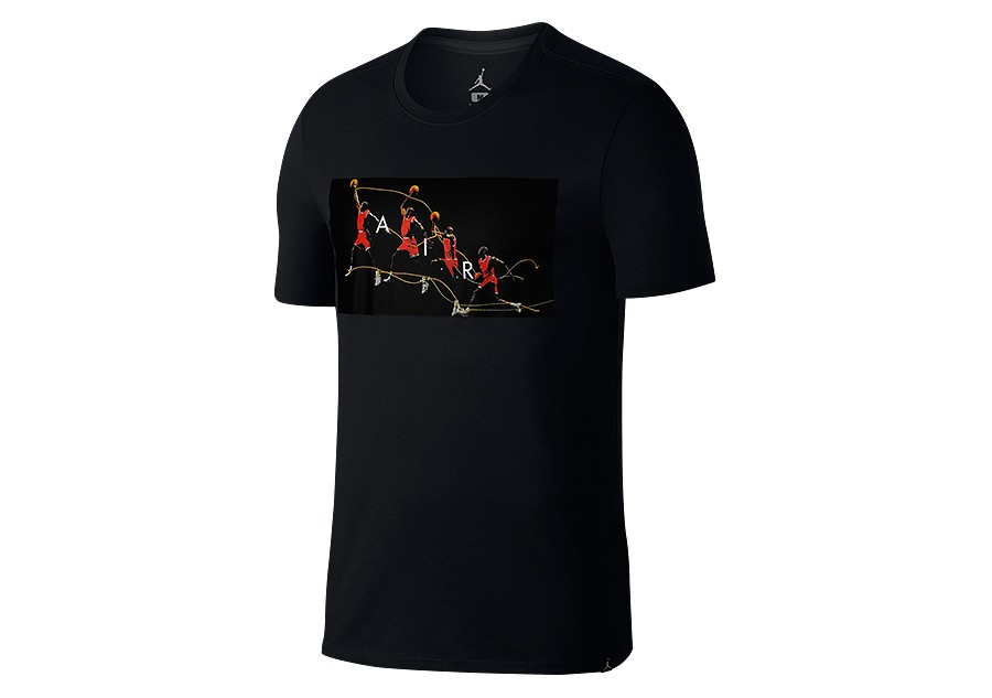 4449315b NIKE AIR JORDAN DRY FLIGHT PHOTO BASKETBALL TEE BLACK price €29.00 ...