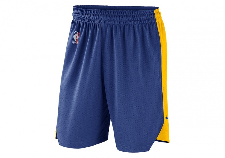 NIKE NBA GOLDEN STATE WARRIORS PRACTICE SHORTS RUSH BLUE