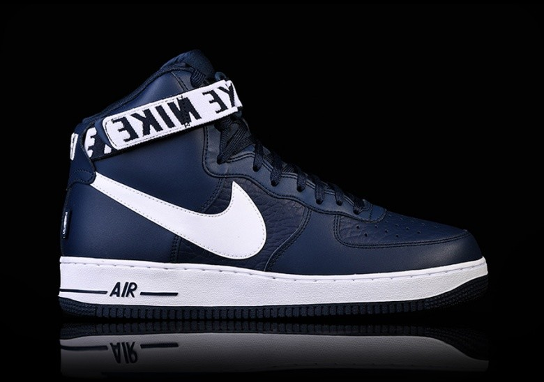 separation shoes b4082 8c936 NIKE AIR FORCE 1 HIGH  07 NBA COLLEGE NAVY