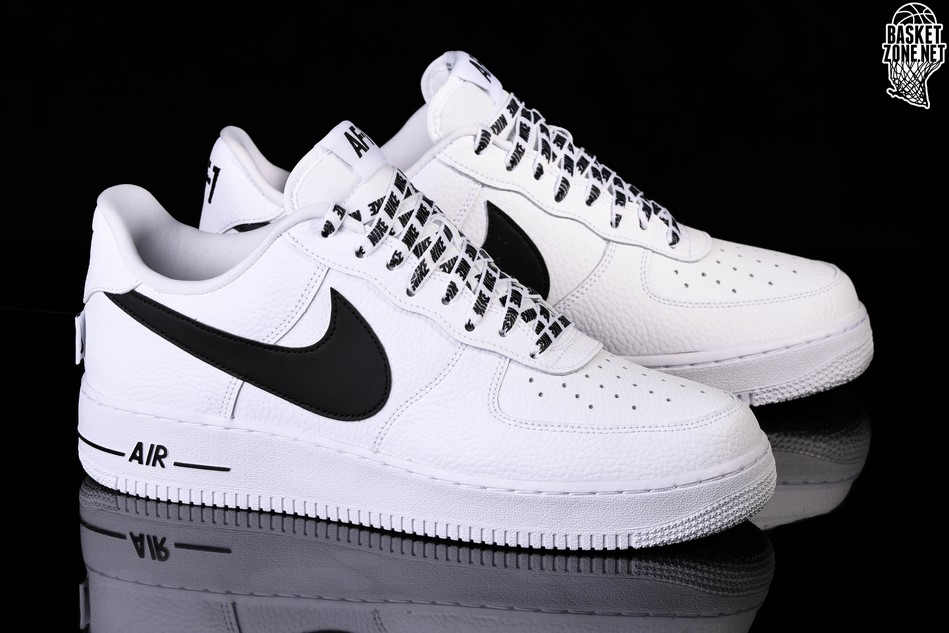 detailed look bde6d 9dc99 NIKE AIR FORCE 1  07 LV8 NBA PACK WHITE BLACK