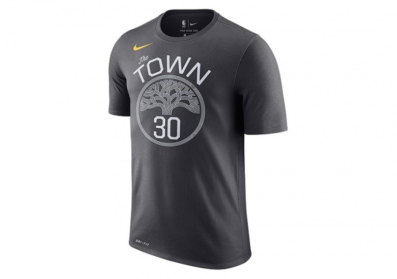 NIKE NBA GOLDEN STATE WARRIORS STEPHEN CURRY DRY TEE ANTHRACITE