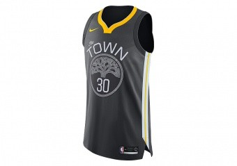 NIKE NBA GOLDEN STATE WARRIORS STEPHEN CURRY AUTHENTIC JERSEY ANTHRACITE