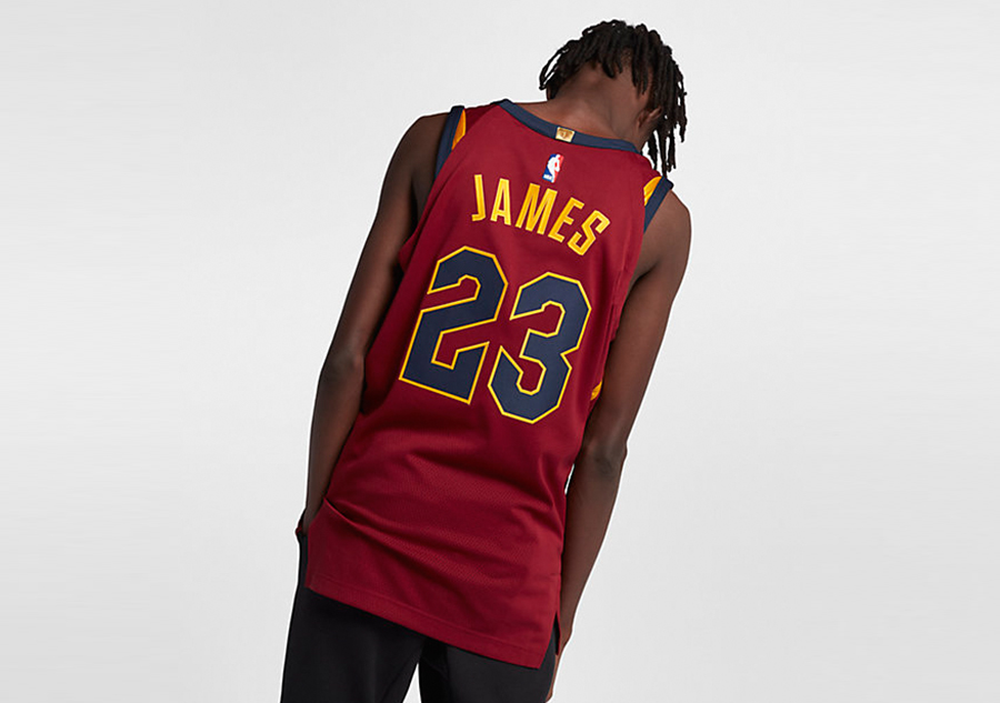54a0d9f9862 NIKE NBA CLEVELAND CAVALIERS LEBRON JAMES AUTHENTIC JERSEY ROAD TEAM RED