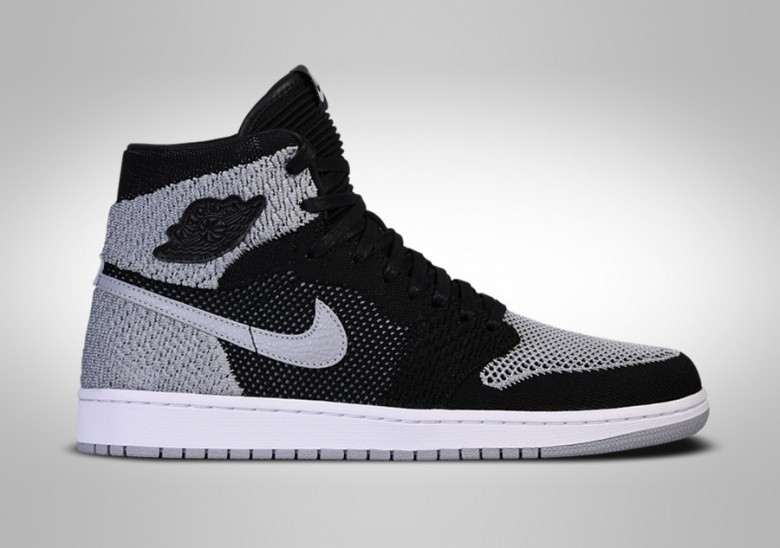 NIKE AIR JORDAN 1 RETRO HIGH FLYKNIT BLACK SHADOW