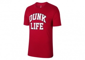 NIKE AIR JORDAN RISE BASKETBALL VERBIAGE TEE GYM RED