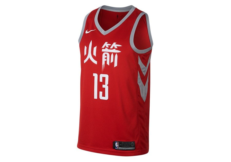 ee6292c7d NIKE NBA JAMES HARDEN HOUSTON ROCKETS CITY EDITION SWINGMAN JERSEY  UNIVERSITY RED
