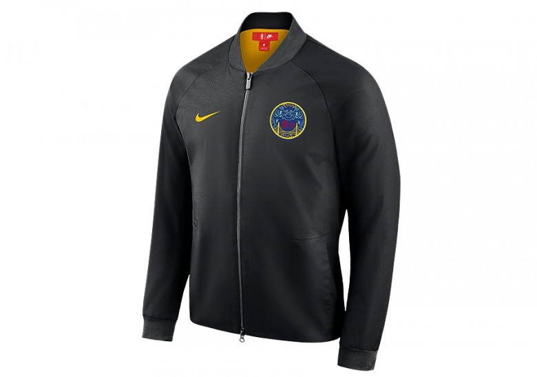cb0ffcf00 NIKE NBA GOLDEN STATE WARRIORS CITY EDITION MODERN JACKET BLACK ...