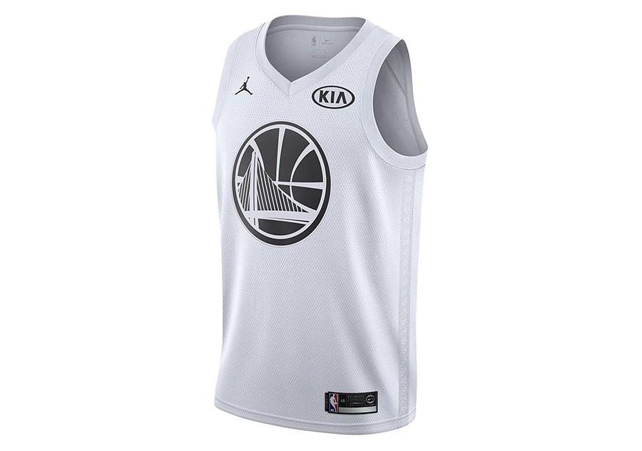 52e6d5aad1c3 NIKE AIR JORDAN NBA STEPHEN CURRY ALL-STAR 2018 SWINGMAN JERSEY WHITE