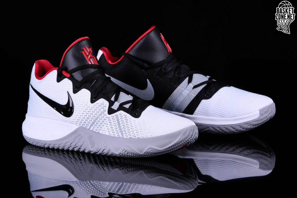 brand new 64c02 34d7a NIKE KYRIE FLYTRAP WHITE BLACK UNIVERSITY RED