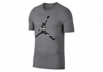 NIKE AIR JORDAN LAST SHOT TEE CARBON HEATHER