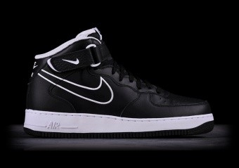 buy online 1c056 b74c5 NIKE AIR FORCE 1 MID 07 LTHR BLACK