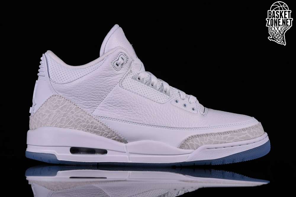 0eee79b1f69 NIKE AIR JORDAN 3 RETRO PURE WHITE price €162.50 | Basketzone.net
