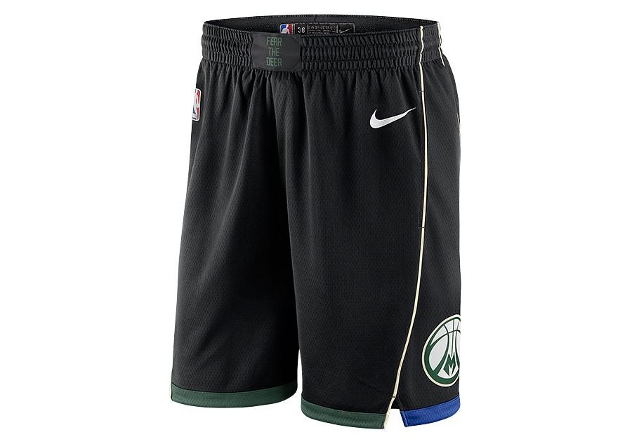 e2c2c32942a NIKE NBA MILWAUKEE BUCKS SWINGMAN SHORTS BLACK price €62.50 | Basketzone.net