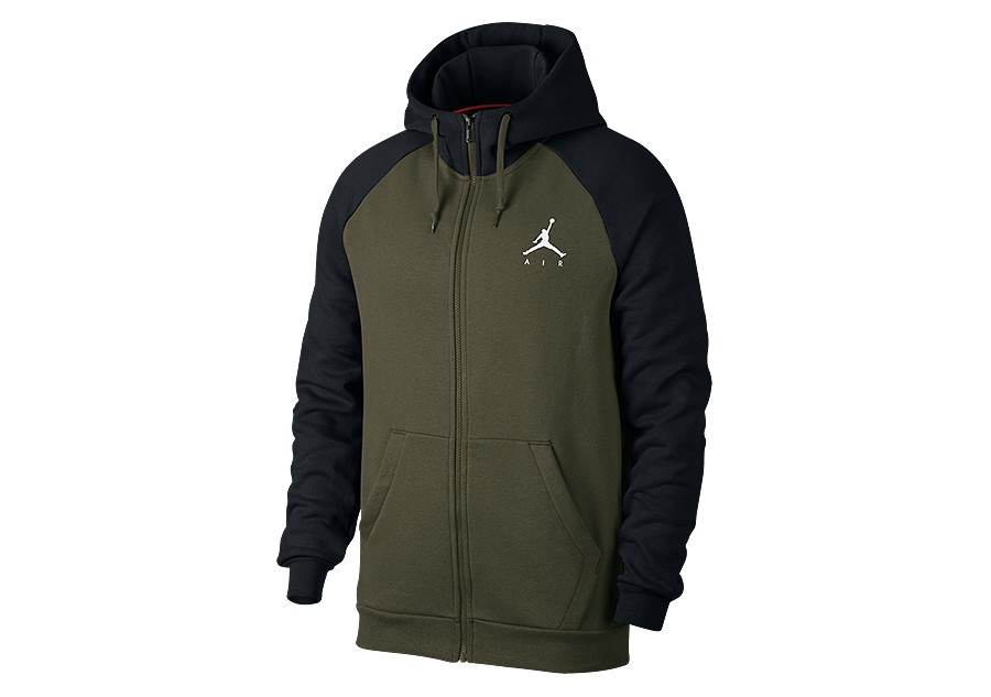 e6d64d3c334c NIKE AIR JORDAN SPORTSWEAR JUMPMAN FLEECE HOODIE OLIVE CANVAS price €72.50