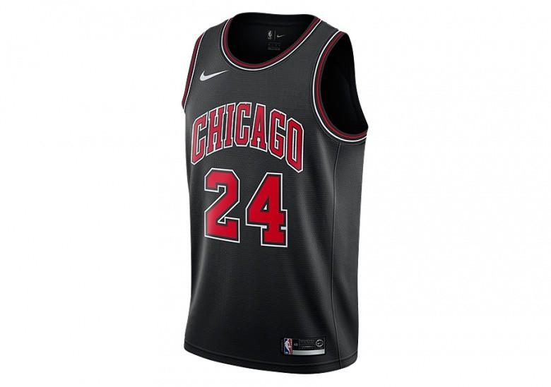 meet 9c0de 73de4 NIKE NBA CHICAGO BULLS LAURI MARKKANEN SWINGMAN JERSEY BLACK ...