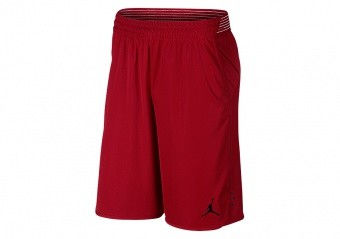 NIKE AIR JORDAN ULTIMATE FLIGHT PRACTICE SHORTS GYM RED