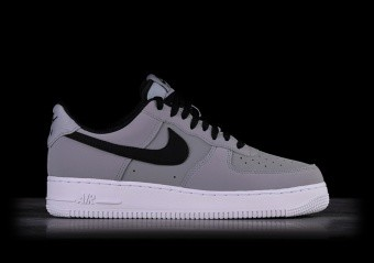 online store a997d 9b741 NIKE AIR FORCE 1  07 LEATHER GREY BLACK