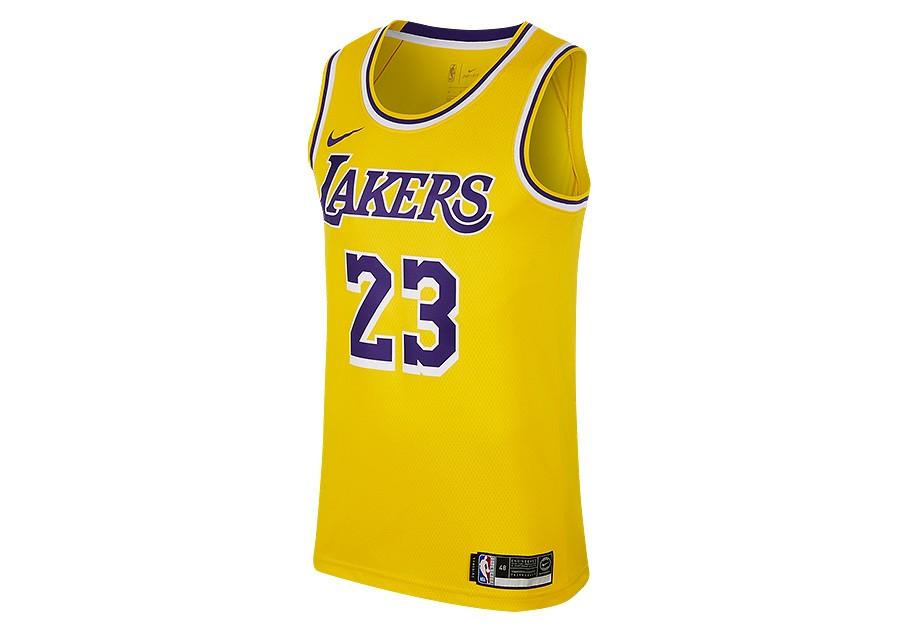 d2f693809 NIKE NBA LOS ANGELES LAKERS LEBRON JAMES SWINGMAN ROAD JERSEY AMARILLO