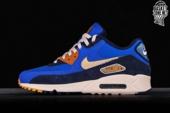 best website 27e4d 20542 NIKE AIR MAX 90 PREMIUM SE GAME ROYAL   LIGHT CREAM
