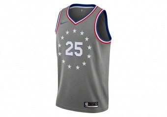 NIKE NBA PHILADELPHIA 76ERS BEN SIMMONS SWINGMAN JERSEY DARK GREY HEATHER