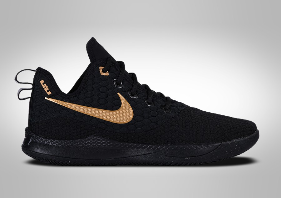 buy online c2744 af046 NIKE LEBRON WITNESS III BLACK METALLIC GOLD price €99.00   Basketzone.net