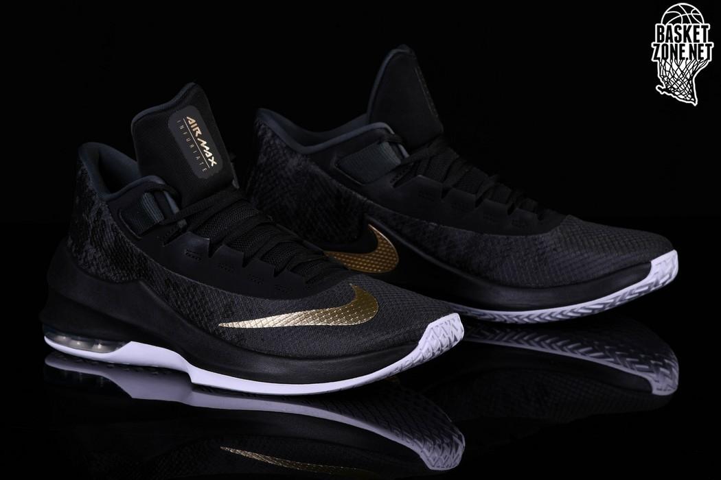 Nike Air Max Infuriate 2 Mid, Men's Basketball Shoes, Black