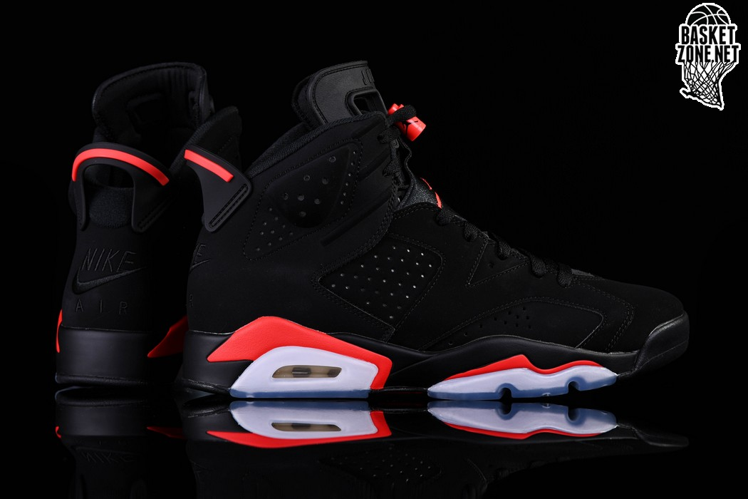 hot sale online 9b655 f5216 NIKE AIR JORDAN 6 RETRO BLACK INFRARED