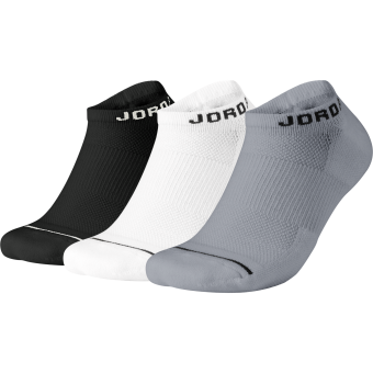 AIR JORDAN JUMPMAN EVERYDAY MAX NO-SHOW 3PACK SOCKS BLACK