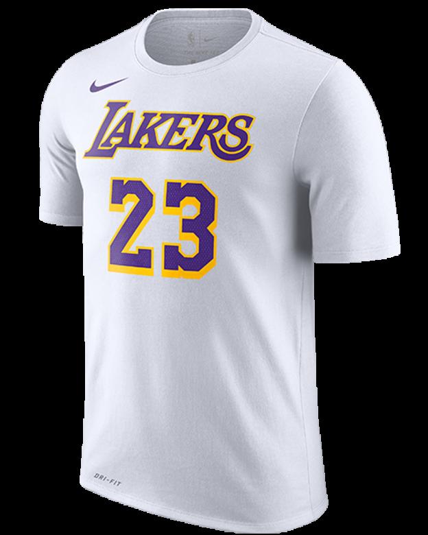 57a4dba936af NIKE NBA LOS ANGELES LAKERS LEBRON JAMES DRY TEE. WHITE. LEBRON JAMES.  £30.00