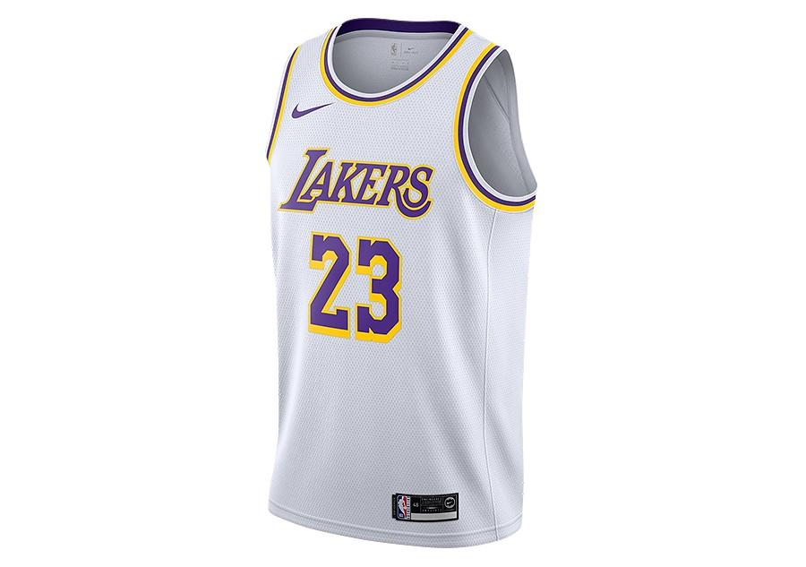 003df39b6 NIKE NBA LOS ANGELES LAKERS LEBRON JAMES SWINGMAN HOME JERSEY WHITE per  €67