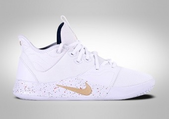 NIKE PG 3 WHITE METALLIC GOLD