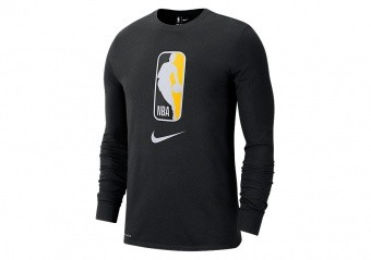 NIKE NBA TEAM 31 DRY LONG-SLEEVE TEE BLACK AMARILLO