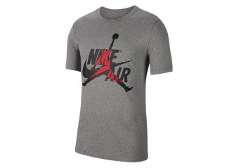 NIKE AIR JORDAN CLASSICS CREW TEE CARBON HEATHER