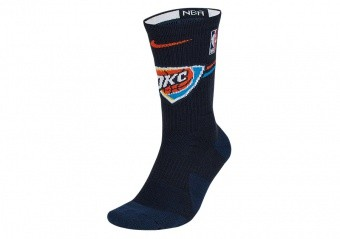NIKE NBA OKLAHOMA CITY THUNDER ELITE CREW SOCKS COLLEGE NAVY